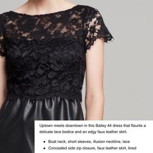 Bailey 44 Starry Sky black lace & pleather dress
